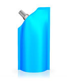 Blue spout pouch Royalty Free Stock Photo