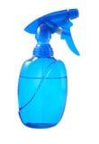 Blue spray bottle Royalty Free Stock Photos