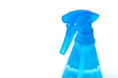 Blue spray bottle Royalty Free Stock Photo