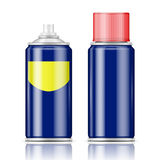 Blue spray can with red cap. Royalty Free Stock Images