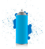 Blue spray tin Stock Photo