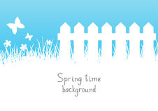 Blue spring background. With place for text stock illustration
