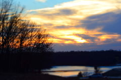 Blue Springs Lake. Evening Shot of Blue Springs Lake Royalty Free Stock Photography