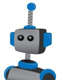 Blue Springy Robot with one antenna Stock Images