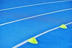 Blue sprint track Royalty Free Stock Photo