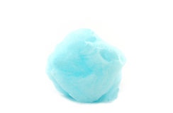 Blue spun sugar, Cotton Candy. Stock Photos