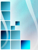 Blue square. Over mesh  background. abstract illustration Royalty Free Stock Photos