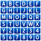 Blue Square Alphabet Buttons Royalty Free Stock Photography