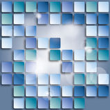 Blue square background Stock Image