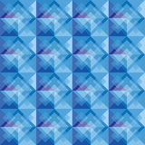 ฺBlue square background pattern Royalty Free Stock Photo
