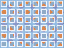 Blue square bathroom kitchen pattern Royalty Free Stock Photography