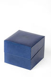 Blue square box  over white background.  Royalty Free Stock Images