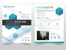 Blue square business Brochure Leaflet Flyer annual report template design, book cover layout design, business presentation. Blue square business Brochure Leaflet vector illustration