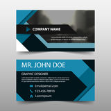 Blue square corporate business card, name card template ,horizontal simple clean layout design template , Business banner template Stock Images