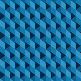 Blue square design pattern Royalty Free Stock Photos