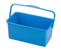 Blue square empty cleaning water bucket. For floor cleaning royalty free stock images