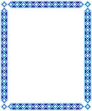 Blue Square Frame Royalty Free Stock Photography