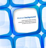 Blue square and frame background Royalty Free Stock Image
