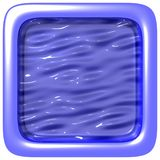 Blue square frame. Square frame love Crispy frame Cg design Royalty Free Stock Images