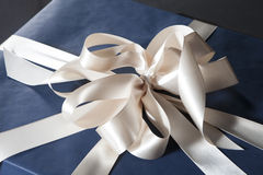 Blue Square Gift Box Stock Photography