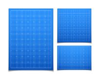 Blue  square grid set with shadow Stock Photo