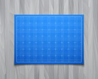Blue  square grid with shadow isolated on Royalty Free Stock Image