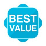 Blue square icon best value Stock Photos