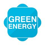 Blue square icon green energy. Vector icon Royalty Free Stock Photos