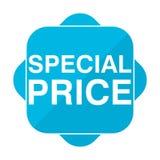 Blue square icon special price Stock Photo