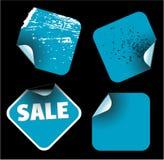 Blue square labels Stock Image
