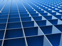 Blue square line pattern background Stock Images