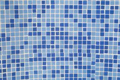 Blue square mosaic pattern Royalty Free Stock Image