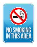 Blue Square No Smoking In This Area Sign Stock Photo