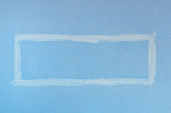 Blue Square Paint Wall Royalty Free Stock Photos