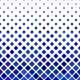 Blue square pattern background - geometric vector illustration from diagonal squares Royalty Free Stock Photo