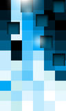 Blue square pattern technology background Stock Photo