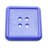 Blue Square plastic button Royalty Free Stock Photography