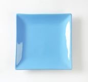 Blue square plate Royalty Free Stock Photography