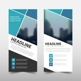 Blue square roll up business brochure flyer banner design. Blue square roll up business brochure flyer banner design , cover presentation abstract geometric Stock Image