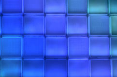 Blue square row and column Stock Photos