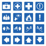 Blue square  safety sign. Vector Royalty Free Stock Photography