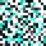 Blue square seamless pattern with blob effect Royalty Free Stock Photos