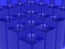 Blue square steps structure background Royalty Free Stock Images