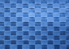 Blue square texture. Background of blue cloth tiles Royalty Free Stock Images