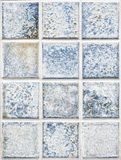 Blue square tiles Royalty Free Stock Photography