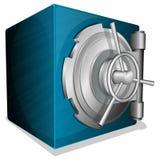 Blue square vault Stock Images