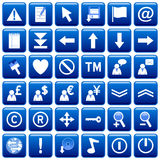 Blue Square Web Buttons [2] Stock Image