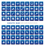 Blue square web buttons Royalty Free Stock Photo