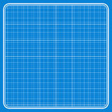 Blue square with a white grid Stock Photography