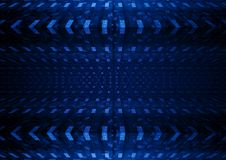Blue squared abstract background. Dark blue squared abstract background vector illustration